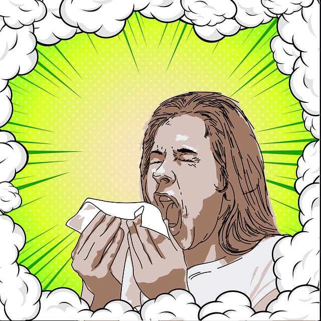 nemocný při kýchání