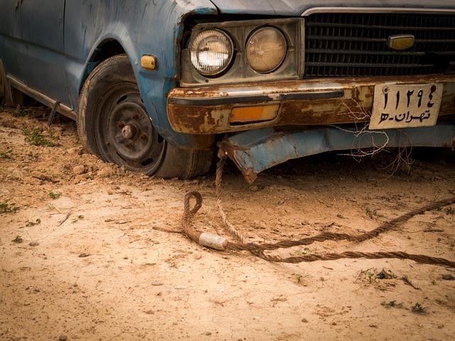 auto na laně