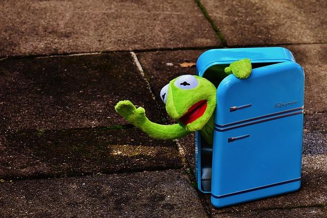 žába v lednici
